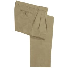 Hiltl Canton Pants - Wool, Pleats (For Men) in Beige - Closeouts