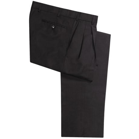Hiltl Canton Pants - Wool, Pleats (For Men) in Charcoal