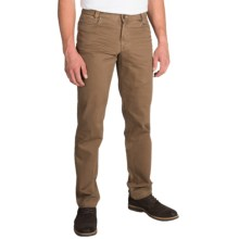 Hiltl Dolf Contemporary Fit Pants - Brushed Cotton (For Men) in Brown - Closeouts