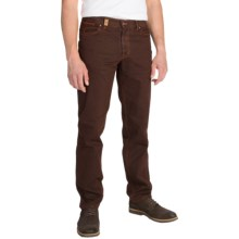 Hiltl Dolf Contemporary Fit Pants - Brushed Cotton (For Men) in Clay - Closeouts