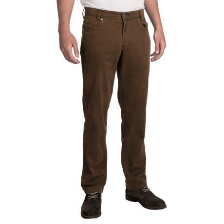 Hiltl Dolf Pants - Stretch Cotton (For Men) in Dark Brown