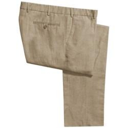 Hiltl Dorigo Pants - Cotton-Linen, Flat Front (For Men) in Blue