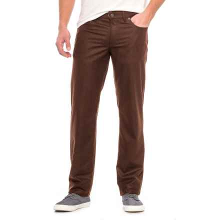 Hiltl Downey Wool Flannel Pants - Contemporary Fit (For Men) in Brown - Closeouts