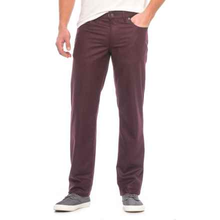 Hiltl Downey Wool Flannel Pants - Contemporary Fit (For Men) in Burgundy - Closeouts