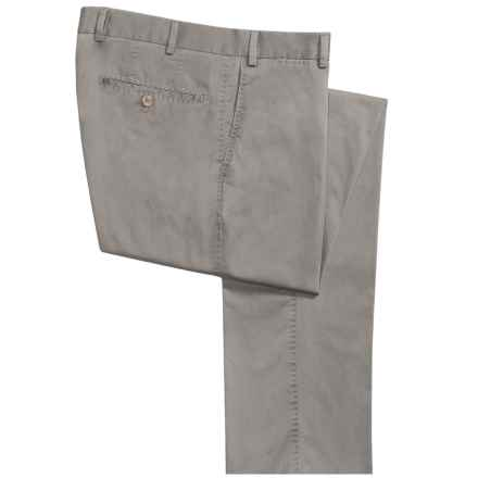 Hiltl Doyle Contemporary Fit Pants - Stretch Supima® Cotton (For Men) in Light Olive - Closeouts