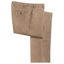 Hiltl Doyle Stretch Gabardine Pants - Contemporary Fit (For Men) in Dark Khaki - Closeouts