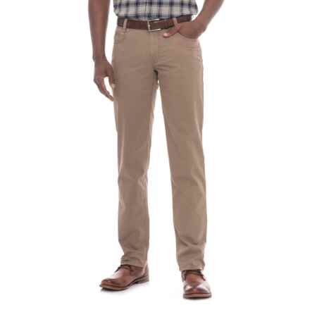 Hiltl Dude 5-Pocket Gabardine Pants (For Men) in Brown - Closeouts