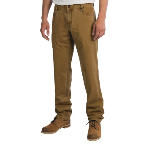 Hiltl Dude 5-Pocket Pants - Contemporary Fit (For Men) in Medium Brown