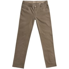 Hiltl Dude Giza Cotton Low-Rise Pants - 5-Pocket (For Men) in Brown - Closeouts