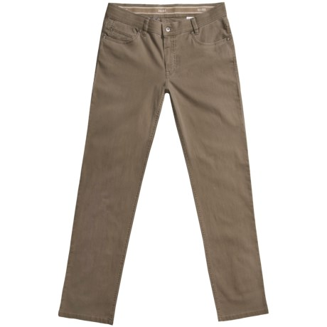 Hiltl Dude Giza Cotton Low-Rise Pants - 5-Pocket (For Men) in Olive