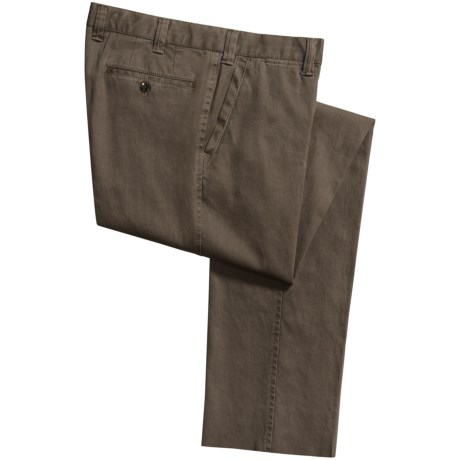 Hiltl Dylan Chino Faded Pants - Stretch Cotton (For Men) in Beige/Green