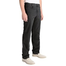 Hiltl John Inch Pants - Contemporary Fit (For Men) in Charcoal - Closeouts