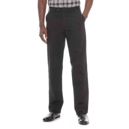 Hiltl Napa Pants - Unhemmed, Stretch Cotton (For Men) in Black - Closeouts