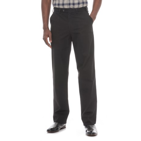 Hiltl Napa Pants - Unhemmed, Stretch Cotton (For Men) in Black