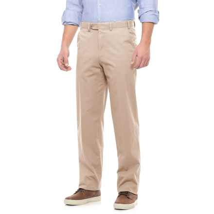 Hiltl Napa Pants - Unhemmed, Stretch Cotton (For Men) in Khaki - Closeouts