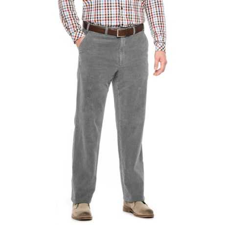 Hiltl Napa Pigment-Dyed Corduroy Chino Pants (For Men) in Gray