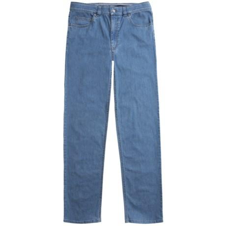 Hiltl Premium Denim Stonewashed Jeans (For Men) in Med Blue