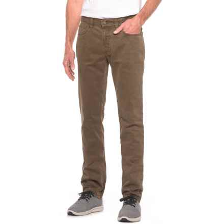Hiltl Soft-Touch American Slim Pants (For Men) in Mocha - Closeouts