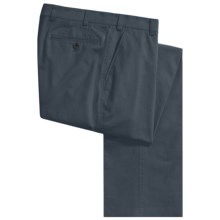 Hiltl Stretch Cotton Twill Pants - Flat Front (For Men) in Navy - Closeouts