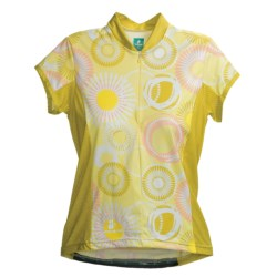 Hincapie Bella Cycling Jersey - UPF 30+, Half-Zip, Short Sleeve (For Women) in Lemonade