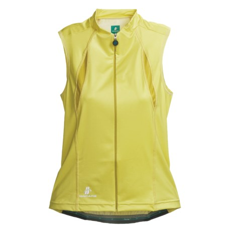 Hincapie Cortina Cycling Jersey - UPF 30+, Full-Zip, Sleeveless (For Women) in Lemonade