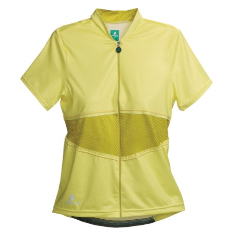 Hincapie Elegante Cycling Jersey - UPF 30+, Short Sleeve (For Women) in Lemonade