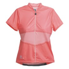 Hincapie Elegante Cycling Jersey - UPF 30+, Short Sleeve (For Women) in Pink Petals - Closeouts