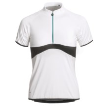 Hincapie George Signature Cycling Jersey - Short Sleeve (For Women) in White - Closeouts