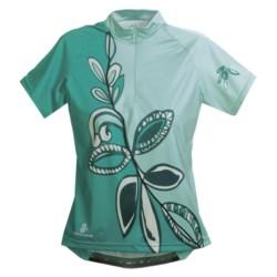 Hincapie Meadow Cycling Jersey - Half-Zip, Short Sleeve (For Women) in Ice