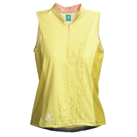 Hincapie Nature Cycling Jersey - UPF 30+, Half-Zip, Sleeveless (For Women) in Pink Petals