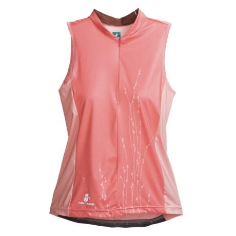 Hincapie Nature Cycling Jersey - UPF 30+, Half-Zip, Sleeveless (For Women) in Pink Petals