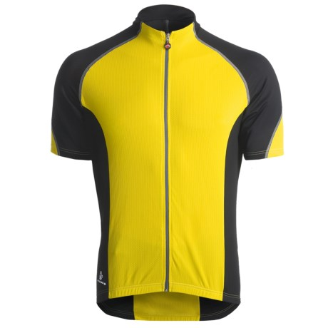 Hincapie Ponteza Cycling Jersey - UPF 30+, Full-Zip, Short Sleeve (For Men) in Yellow