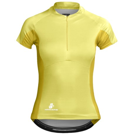Hincapie Vita Cycling Jersey - Half-Zip, Short Sleeve (For Women) in Lemonade