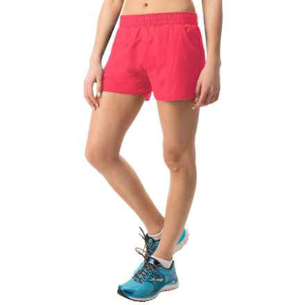 "Hind 3"" Running Shorts - Built-In Briefs (For Women) in Coral Freeze - Closeouts"