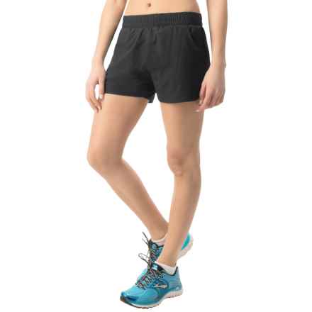 """Hind 3"""" Running Shorts - Built-In Briefs (For Women) in Rich Black - Closeouts"""