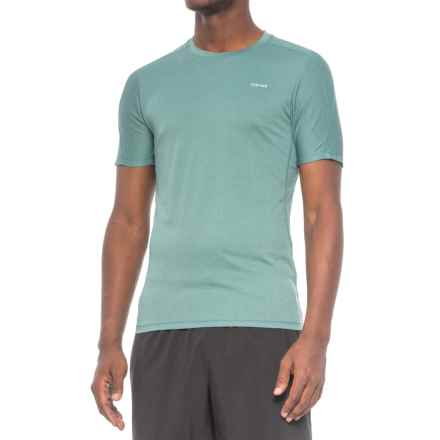 Hind Birdseye Heathered Training T-Shirt - Short Sleeve (For Men) in Atlantic Blue - Closeouts