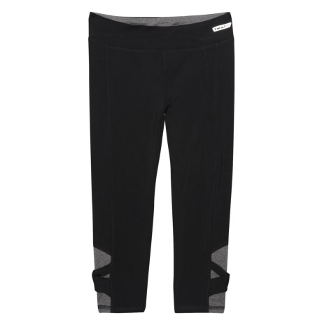 Hind Crisscross Capris (For Big Girls) in Black