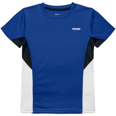Hind Cut & Sew Panel T-Shirt - Short Sleeve (For Big Boys) in Blue