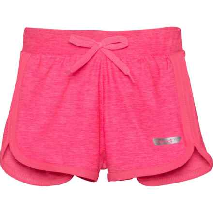 Hind Knit Shorts - 2-Pack (For Little Girls) in Black/Pink - Closeouts