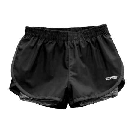 Hind Loose Woven Shorts - Built-In Liner Shorts (For Big Girls) in Black/Black - Closeouts