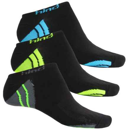 Hind Micro No-Show Socks - 3-Pack, Below the Ankle (For Men) in Black/Logo - Closeouts