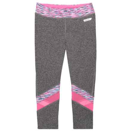 Hind Printed Panel Capris (For Big Girls) in Pink/Multi - Closeouts