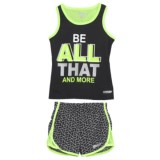 Hind Printed Tank Top and Shorts Set (For Toddler Girls)