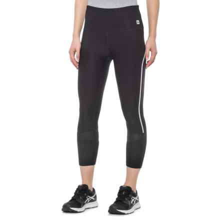 Hind Reflective Capris (For Women) in Black