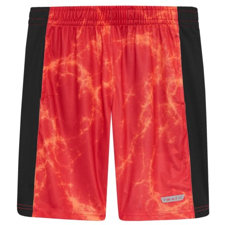 Hind Solid Side Panel Shorts (For Big Boys) in Red/Orange/Black