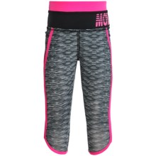 Hind Space-Dye Capris (For Little Girls) in Black/Pink - Closeouts