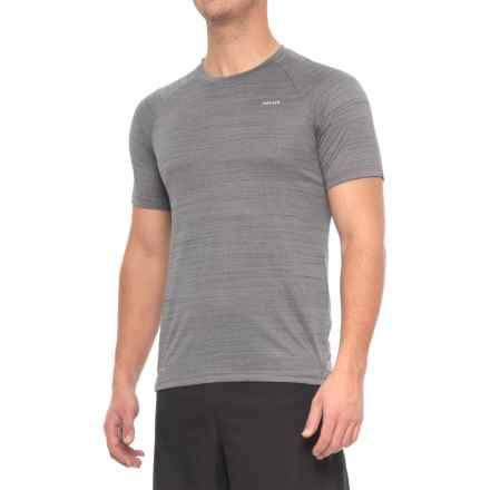 Hind Space-Dyed Mesh Heather T-Shirt - Crew Neck, Short Sleeve (For Men) in Grey Pinstripe - Closeouts