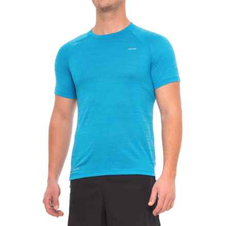 Hind Space-Dyed Mesh Heather T-Shirt - Crew Neck, Short Sleeve (For Men) in Photo Blue - Closeouts