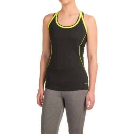 Hind Strap Tank Top - Racerback (For Women) in Rich Black/Sunkist - Closeouts