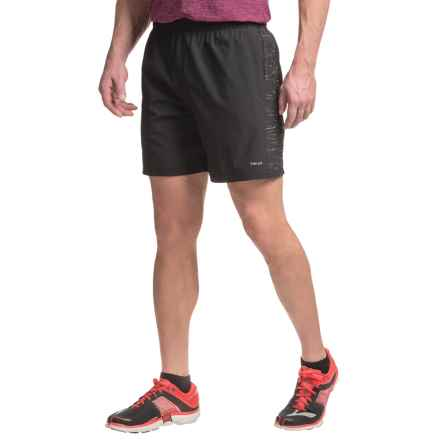 "Hind Stretch 7"" Running Shorts - Built-In Briefs (For Men) in Rich Black - Closeouts"